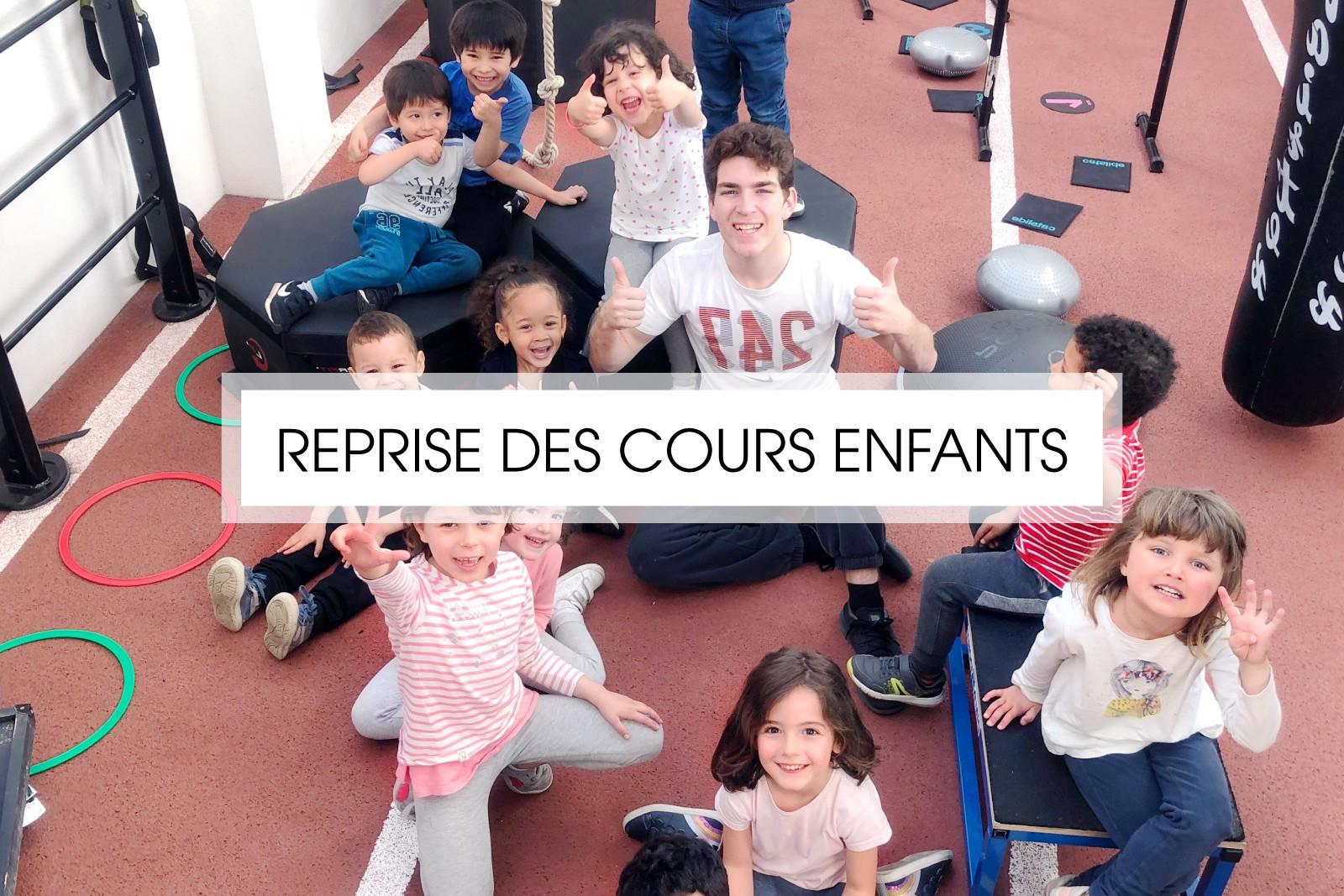 REPRISE DES COURS ENFANTS DÈS LE 15 DÉCEMBRE